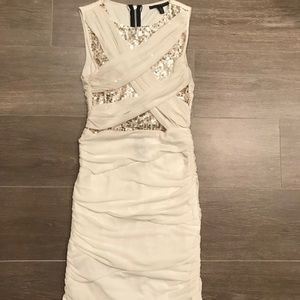 Cream colored sequin Cocktail dress